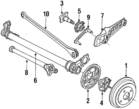 Spindle Assembly, R Rear Wheel