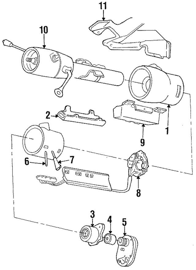 1984 1993 Mopar Ignition Switch 3747882