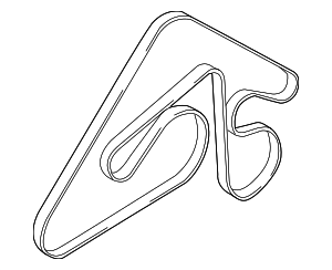 Serpentine Belt - Hyundai (25212-3F501)
