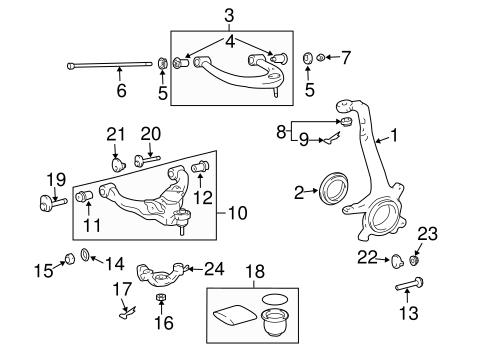 suspension components for 2006 lexus gx470