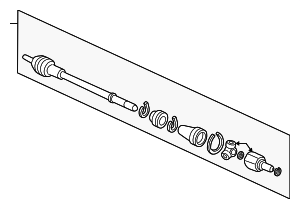 Drive Shaft Set, R - Honda (44010-S10-A10)