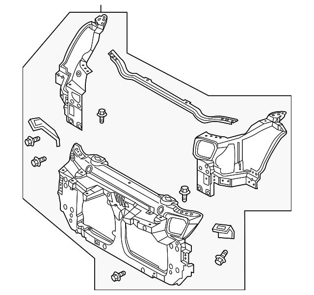 Radiator Support For 2007 Nissan 350z 62500 Cd705