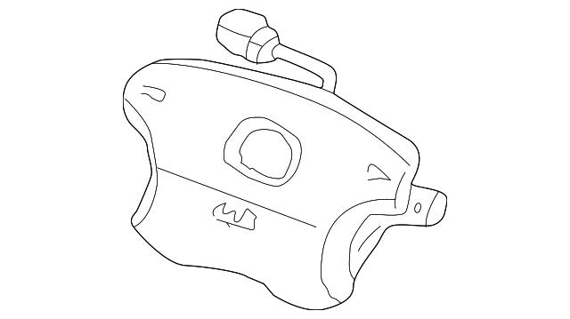Airbag Assembly, Driver *NH283L* (Quartz Gray)