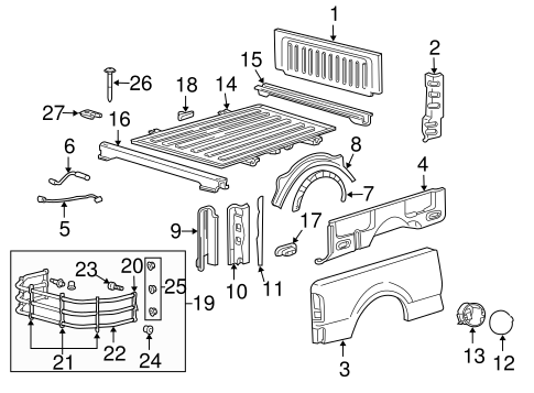 Body/Floor - Pick UP Box for 2008 Ford F-150 #2