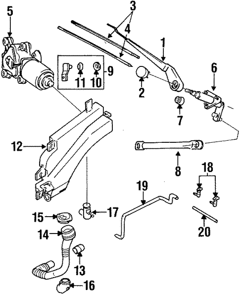 Wiper & Washer Components for 1995 Isuzu Trooper #0