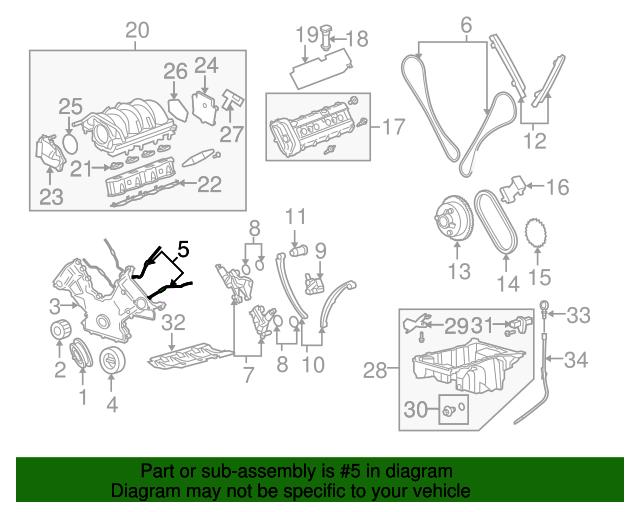 2005 range rover engine diagram 2005 2009 land rover front cover gasket lr000319 jaguarparts com  land rover front cover gasket lr000319