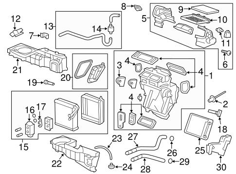 start assist hvac wiring diagrams evaporator & heater components for 2010 gmc acadia (slt) #13