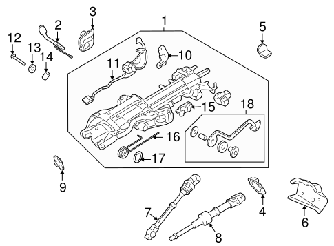 4502520480 further 829333 Bushing On Gear Shifter Column furthermore 2001 Tundra Steering Parts Diagram moreover 5l1z3z719a further Volkswagen Cruise Control Diagram. on toyota oem parts diagram steering column