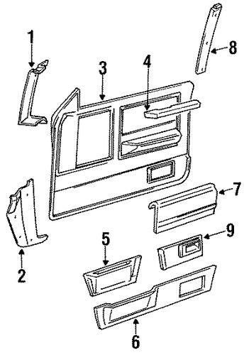 Oem 1988 Chevrolet S10 Blazer Interior Trim Parts
