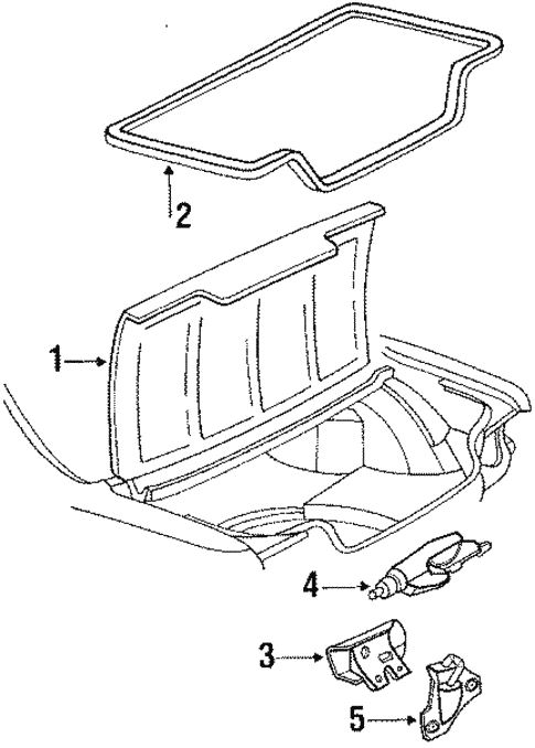 Trunk for 1991 Pontiac Grand Prix #0