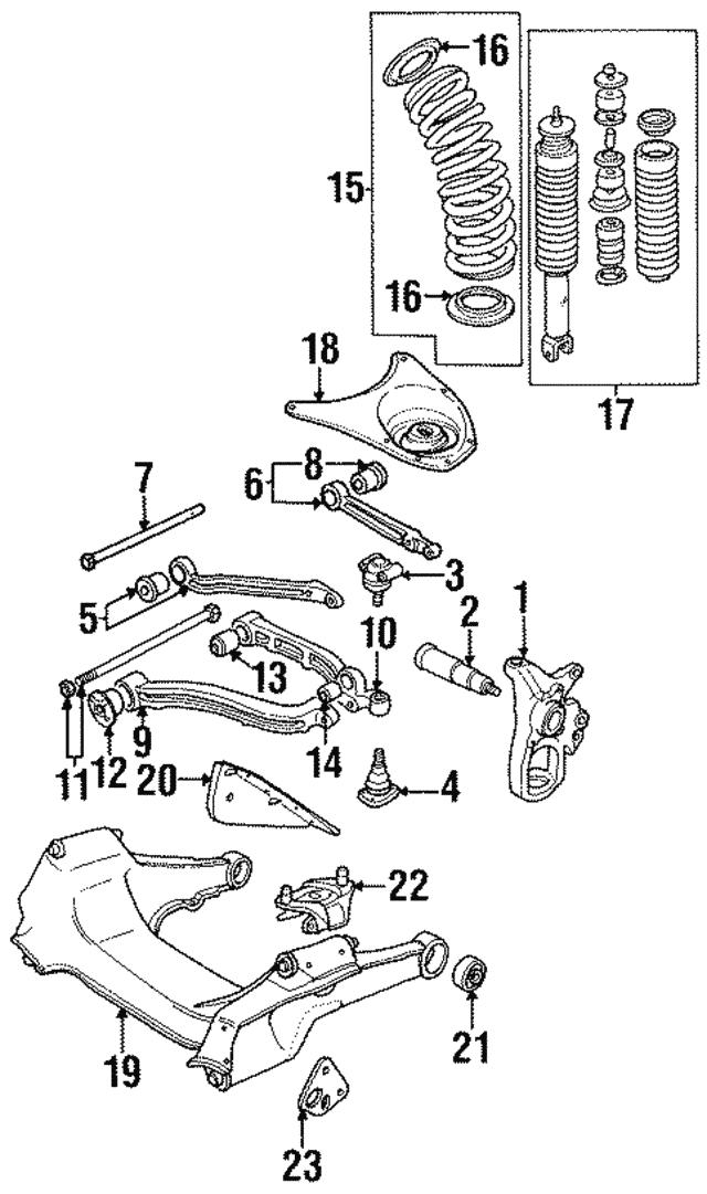 1995 1997 Jaguar Shock Absorber Mmd2140cc