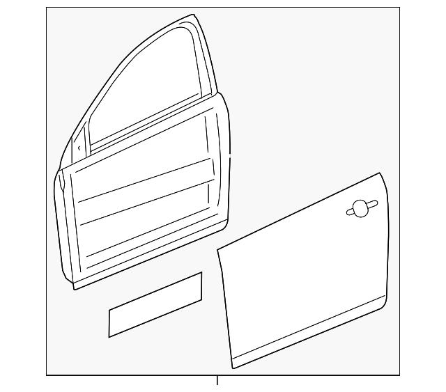 2016 2019 Chevrolet Cruze Door Shell 39054905