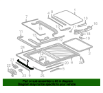 Sunroof Guide Rail - Mercedes-Benz (220-782-03-24)
