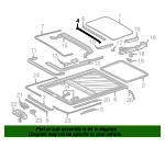 Sunroof Guide Rail - Mercedes-Benz (124-782-01-24)