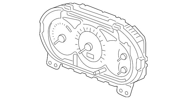 2003 honda civic sedan meter assembly  speed  u0026 tachometer