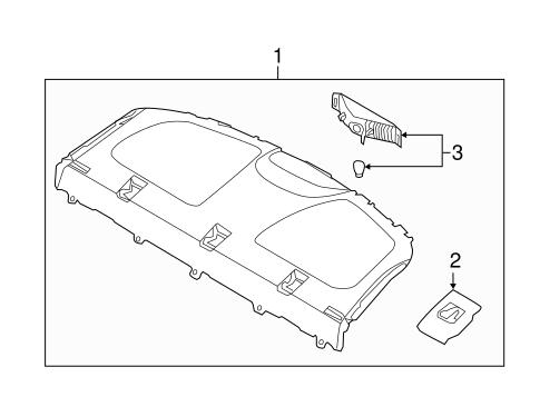 HYUNDAI Genuine 85796-2L000-9K Luggage Net Hook Assembly