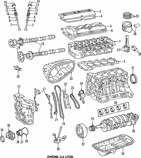 Engine Parts For 1997 Toyota Previa Longo Toyota Parts