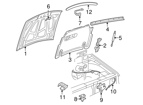 Body/Hood & Components for 2001 Ford Explorer Sport Trac #1