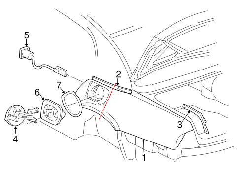 Oem 1997 Buick Park Avenue Fuel Door Parts
