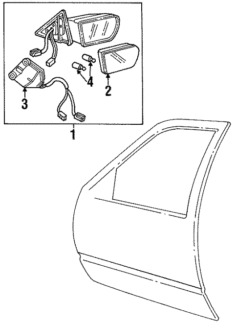 Outside Mirrors For 1994 Cadillac Deville Base