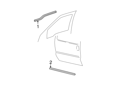 Body/Exterior Trim - Front Door for 2007 Ford F-250 Super Duty #1