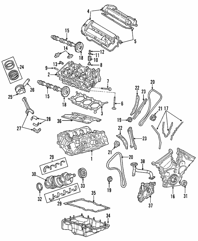 Thrust Bearing - Mazda (AJ57-11-391A)
