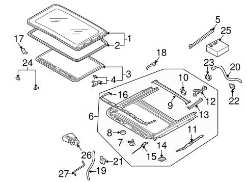 oem vw sunroof for 2004 volkswagen touareg. Black Bedroom Furniture Sets. Home Design Ideas