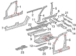 Seat Support Reinforcement - Mercedes-Benz (211-616-07-16)