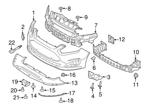 ford b max wiring diagram bumper   components front for 2014 ford c max quickparts  front for 2014 ford c max