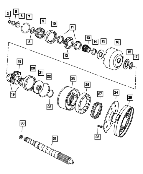 Gear Train for 2004 Jeep Grand Cherokee #1