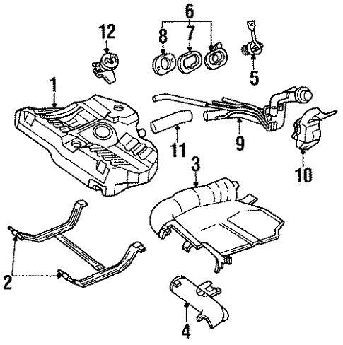 Fuel System Components For 1993 Ford Escort