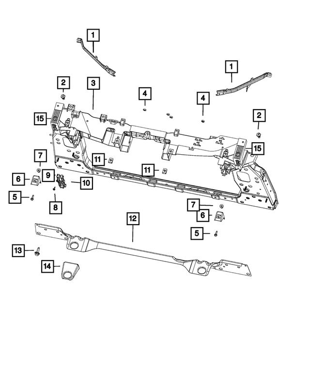 Genuine Mopar Radiator Support Bracket Left 68286731AA
