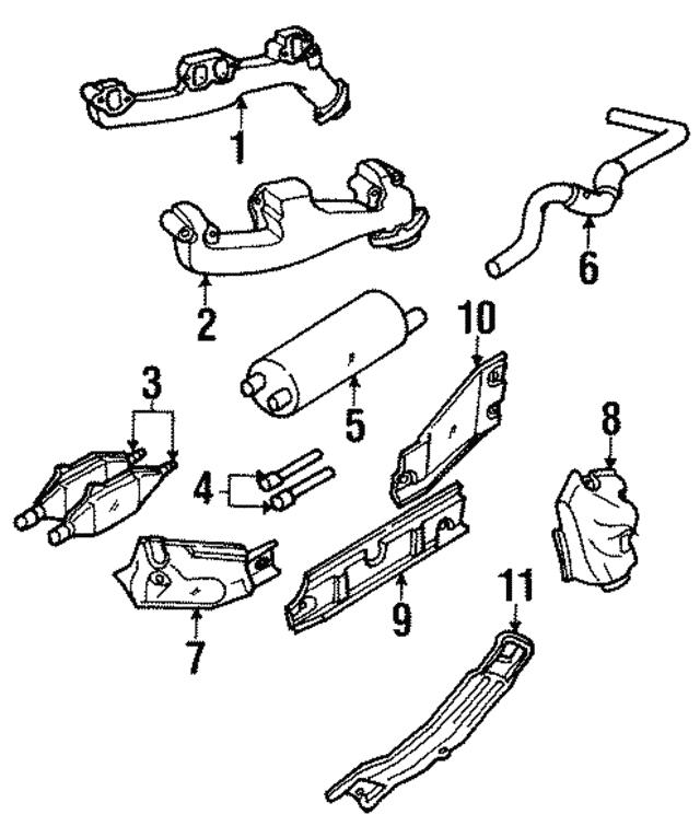 Genuine Chrysler 52103159 Exhaust Muffler