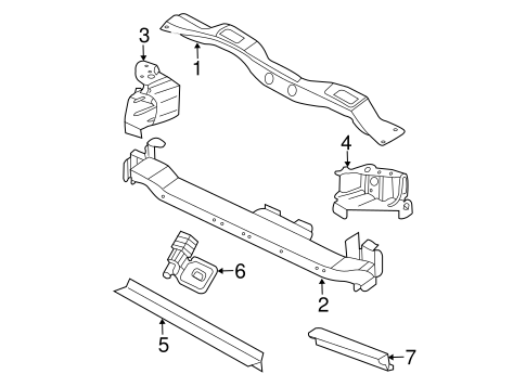 Radiator Support For 2005 Dodge Caravan