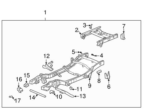 frame components parts for 2003 gmc sierra 2500. Black Bedroom Furniture Sets. Home Design Ideas