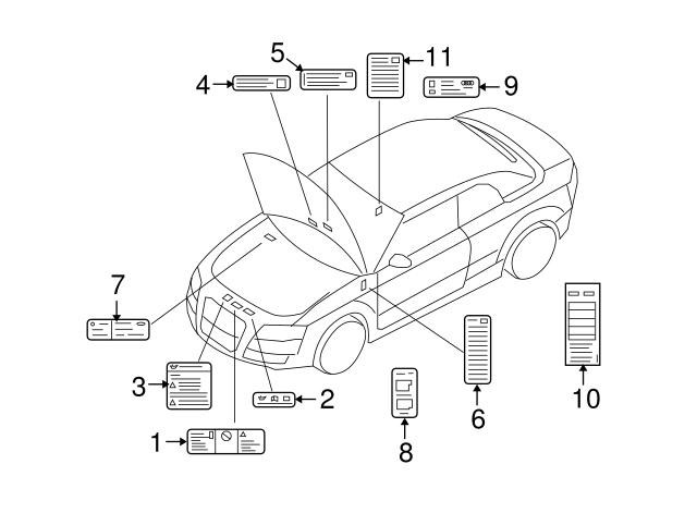 2005 2015 Audi Label 8e0 010 560 A