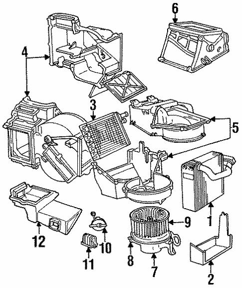 Blower Motor Fan For 1999 Chrysler Cirrus