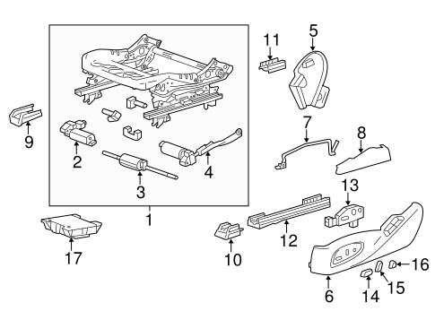 Oem 2014 Chevrolet Impala Power Seats Parts