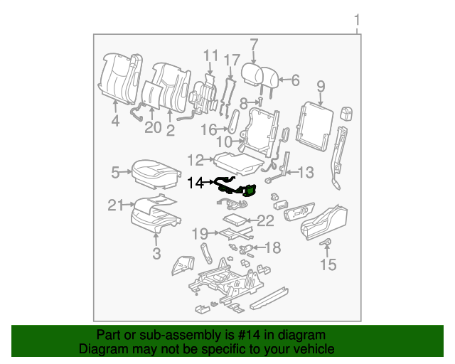 [ZSVE_7041]  Power Seat Wiring Harness - GM (88978229) | GMPartsDirect.com | 2007 Tahoe Power Seat Wiring Diagram |  | GM Parts Direct
