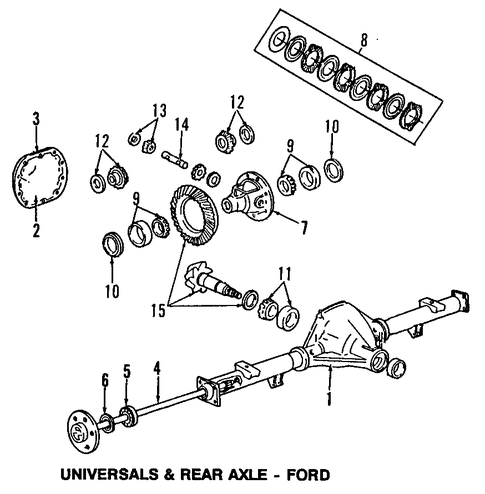 Rear Brakes for 1994 Ford    E150    Econoline Club Wagon