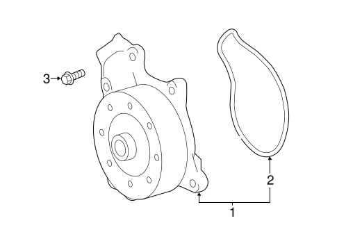 Water Pump For 2019 Toyota C Hr