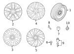 Wheel - Volkswagen (3G8-601-025-G-DM9)