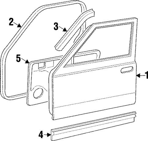door  u0026 components for 1998 jeep cherokee