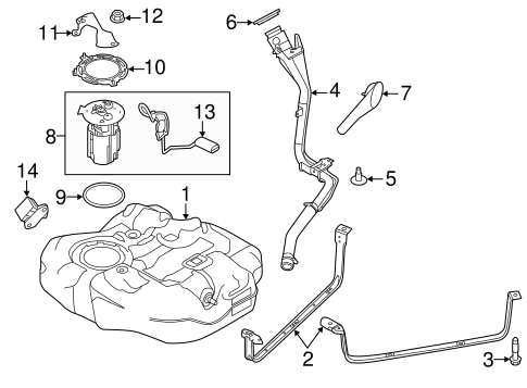 2009 ford flex front suspension diagram
