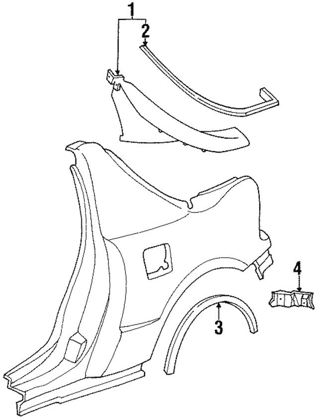 1987 2009 Honda Protector Rear Wheel Arch 74430 Sm4 A00