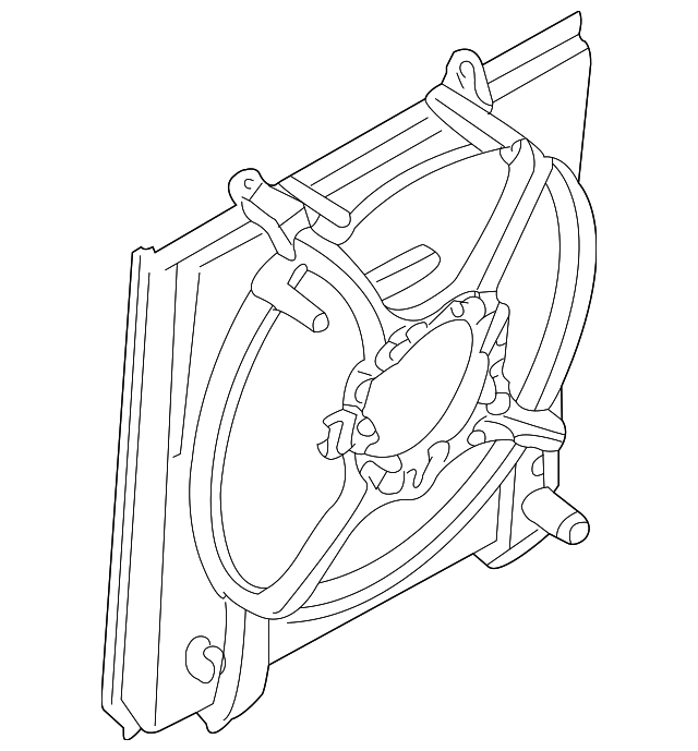 For Mitsubishi Lancer 09 12 Intermotor Manifold Absolute: Fan Shroud - Mitsubishi (MR968365)