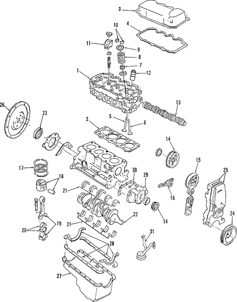 Engine Parts For 1997 Mercury Tracer