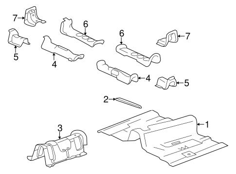 oem 2008 cadillac cts floor parts. Black Bedroom Furniture Sets. Home Design Ideas