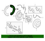 Park Brake Shoes - Toyota (46550-0E020)
