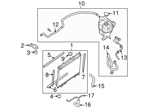 Radiator Components For 2005 Nissan Frontier